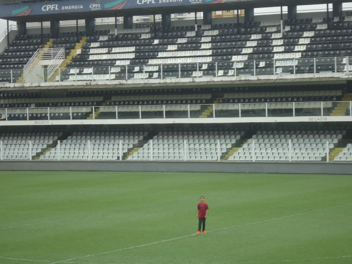 Standing where Pele and Neymar played